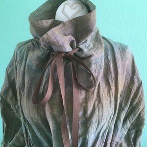 Size M Anne Klein New York linen/ silk blend coat